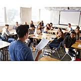 School, Explaining, Teacher, Lecture