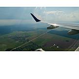 Airplane, Flying, Landing