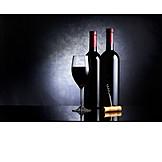 Rotwein, Rotweinglas, Rotweinflasche