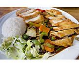 Asiatische Küche, Tellergericht