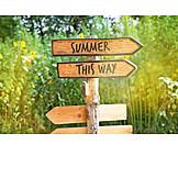 Summer, Footpath Sign