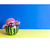 Summer, Sunshade, Watermelon