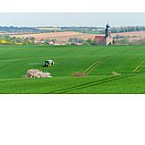 Field, Agriculture, Tractor