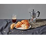 Coffee, Croissant, Espresso Pot