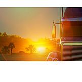 Sunset, Truck