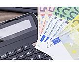 Calculator, Euro notes