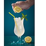 Drink, Cocktail, Limonade, Ausdrücken, Auspressen, Zitronenlimonade