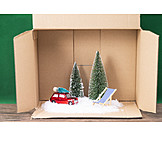 Car, Christmas Tree, Deck Chair