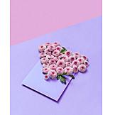 Herz, Valentinstag, Blumengruß