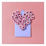 Heart, Valentine, Flower Arrangement