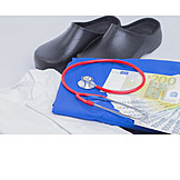Professional clothing, Euro banknote
