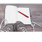 Sports shoe, Note pad