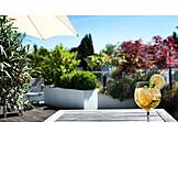 Sommergetränk, Gartenterrasse
