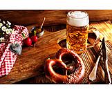Bayrische Küche, Bier, Brezel