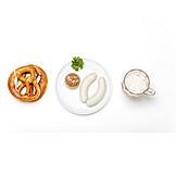 Frühstück, Bayrisch, Weißwurst