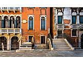 Haus, Haustür, Venedig, Hauseingang, Hausfassade