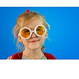 Girl, Glasses, Carnival