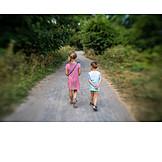 Summer, Hiking, Siblings