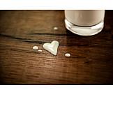 Love, Milk, Cow Milk, Milk Glass, Organic Milk