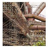 Industry, Steel, Steel Girder, Industrial Plant, Corrosion