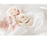 Wedding, Marriage, Pastel, Fabric Rose