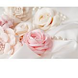 Wedding, Pastel, Fabric Flowers