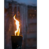 Winter, Flaming Torch