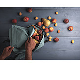 Fruit, Shopping, Backpack