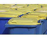 Recycling, Entsorgung, Mülltonne, Mülltonnen, Abfalltonne
