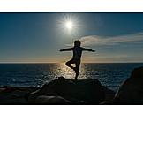 Meer, Balance, Yoga