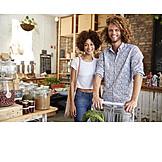Paar, Einkaufen, Umweltbewusst, Unverpackt-laden