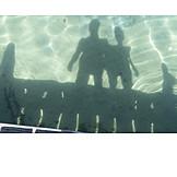 Personen, Wasser, Schatten