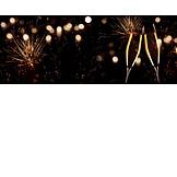 Neujahr, Anstoßen, Champagnerglas