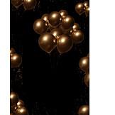 Party, Golden, Balloons