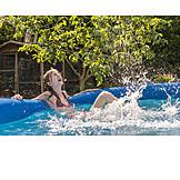 Girl, Refreshment, Wading Pool