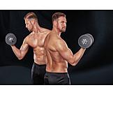 Sportsman, Muscle, Dumbbell training