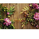 Fruits, Leaves, Autumn Decoration