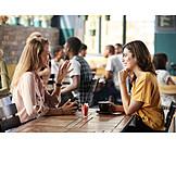 Kommunikation, Freundinnen, Kaffeetrinken