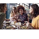 Restaurant, Friends, Lunch