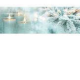 Christmas, Candlelight, Fir Branch
