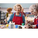 Seniorin, Malen, Kreativität