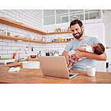 Vater, Laptop, Arbeiten