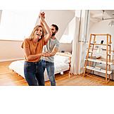 Couple, Happy, Dancing