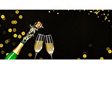 New Years Eve, Celebrations, Champagne Bottle, Uncork