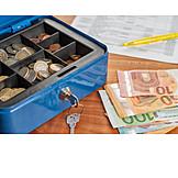 Bargeld, Einnahmen, Geldkassette