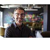 Man, Smiling, Designer