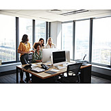 Büro, Zusammenarbeit, Team, Kolleginnen