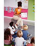 Zuhören, Kinder, Vorschule