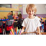 Boy, School, Tablet-pc