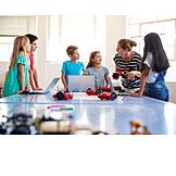 School Children, Teacher, Robotics